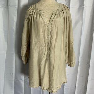 Soft Surroundings Silk Blend Romantic Tunic
